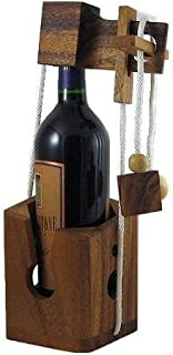 Think-n-Drink Fun Wine Bottle Gift Challenge Puzzle Game Wood Brain Teaser for Adults Wine Lovers and Couple Drinkers Party