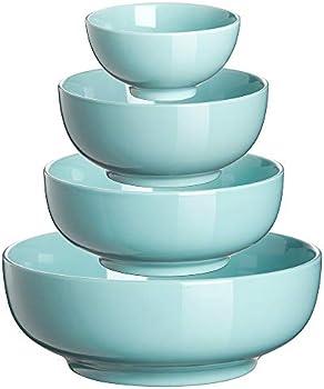 4-Piece Dowan Porcelain Ceramic Mixing Bowl