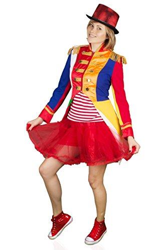 M&G Atelier Bunte Damen Soldat Jacke Karnevalskostüm Uniform Fasching Gehrock Köln 36-54 (48)