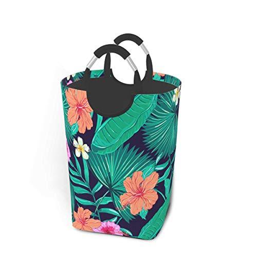 IUBBKI Beautiful Floral Tropical Large Storage Bin Waterproof Laundry Hamper Organizer Basket Kid Hamper for Cloth Baby