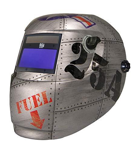 ArcOne 4500V-0166 Carrara Ultra-Light Weling Helmet with 4500V Auto-Darkening Lens, Top Gun