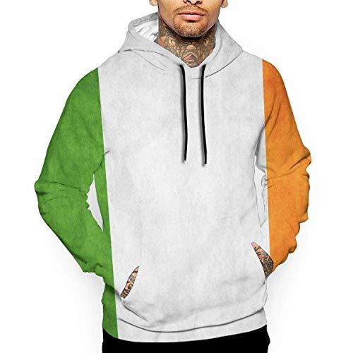 1Zlr2a0IG T-Shirt mit irischer Flagge und Kapuze mit einem Taschen-Strickmützen-Anpassungs-Mode-Neuheit 3D für Herren