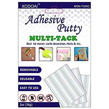 Adhesive Putty, XUDOAI Removable White Picture Poster Putty, Reusable Non-Toxic Multipurpose Mounting Sticky Tack (2oz)