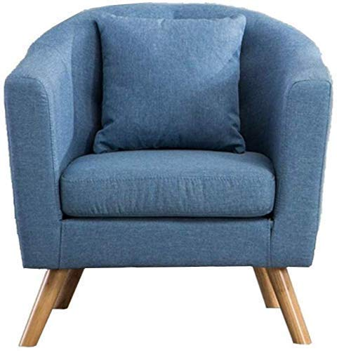 Sun Loungers,Camping Chairs Garden Loungers Folding Chair Linen Fabric Tub Chair Armchair Vintage Seat Chair Sofa Recliner for Bedroom Dining Living Room Lounge Office(58.5x65x70.5cm)(Color,Blue),Flo