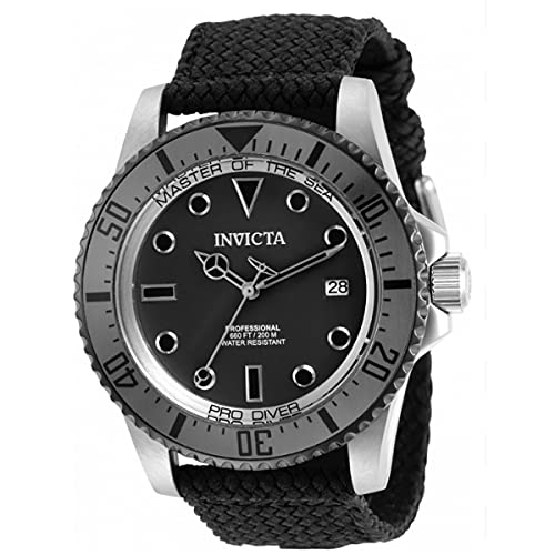 Invicta Pro Diver Automatik-Armbanduhr für Herren, 44 mm, Gunmetal-Grau, Polyesterband, SS (31485)