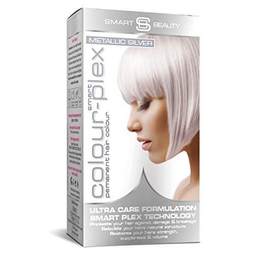 Smart Beauty | Metallic Silver Permanent Hair Dye |Professional Salon Quality Hair Color | With Smart Plex Anti-breakage Technology which protects and strengthens hair during hair coloring