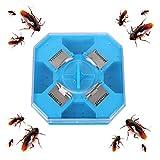 Ibesecc Cucarachas de plástico reutilizable para cucarachas, trampa para cocinas y almacenes (azul)