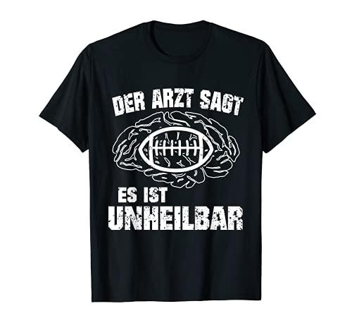 Lustiges American Football Geschenk für Football Spieler T-Shirt