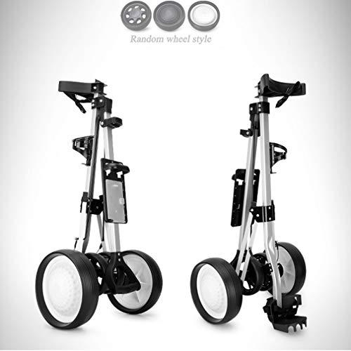YUI Aus Aluminium Golf Trolley Verstellbarem Griff mit 4 Räder und Fußbremse Vorderrad Zieh-Golfcarts