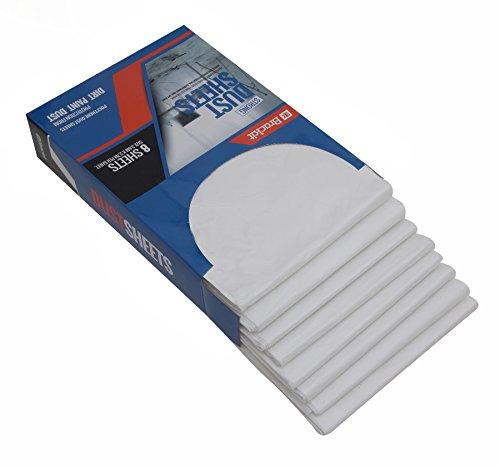 Brackit - Kit di coperture anti-polvere, 8 robusti teli protettivi per mobili 275 cm x 370 cm - Protezioni monouso leggere, resistenti, anti-polvere e impermeabili, per pittura, decorazione, edilizia