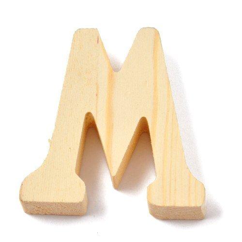 """Holzbuchstabe / Buchstabe """"M"""" (Natur / 8 cm)"""
