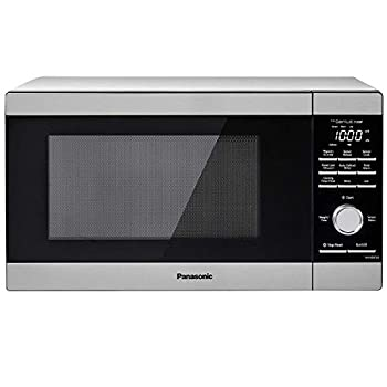 Panasonic NN-SD67LS Countertop Microwave Oven 1100 Watt with Genius Sensor Cook and Auto Defrost 1.3 cft Popcorn Button Stainless Steel  Renewed