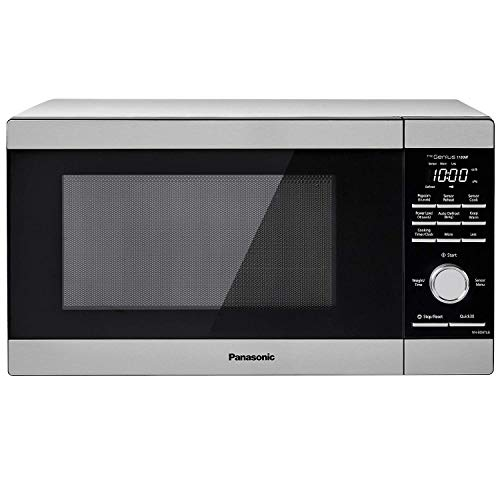 Panasonic NN-SD67LS Countertop Microwave Oven, 1100W with Genius Sensor Cook and Auto Defrost, 1.3 cft, Stainless Steel (Renewed)