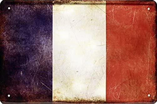 Länder Fahne Nationen National Flagge Frankreich France 20 x 30 Blechschild 1426