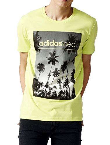 adidas NEO Herren T-Shirt (L, Yellow/Black (AK1018))