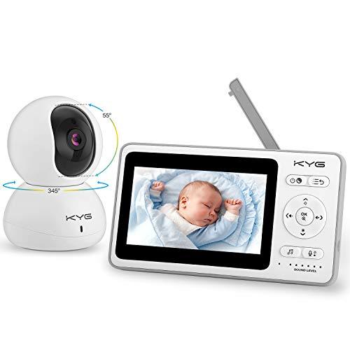 Babyphone mit Kamera Video Babyphone 4,3 Zoll Smart Baby Monitor mit TFT LCD Bildschirm Nachtsichtkamera Temperaturüberwachung 300M Reichweite von KYG