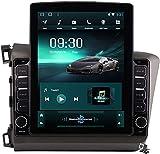 Pantalla Vertical de 9,7 Pulgadas Android 9.1 Coche Multimedia Player para Honda Civic LHD RHD 2012-2016, Soporte GPS Navegador Radio De Coche USB BT Mandos de Volante,TS400