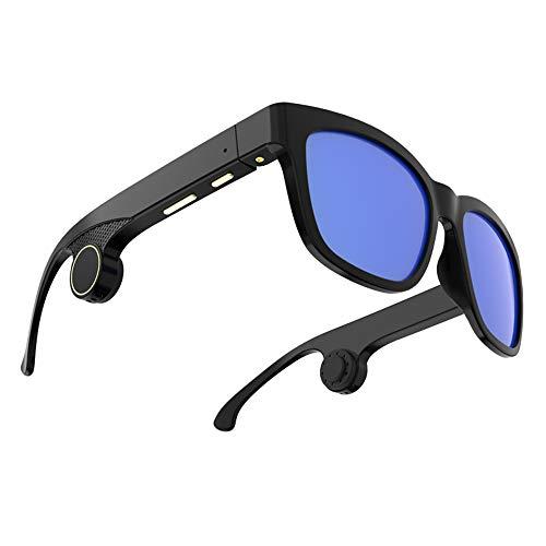 SMAA Occhiali da Sole a conduzione ossea, Bluetooth 5.0 Batteria a Lunga Durata Impermeabili Cuffie a conduzione ossea Vivavoce Auricolari Aperti Wireless Occhiali a conduzione ossea Intelligenti