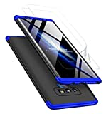 JOYTAG compatibles para Funda Samsung Note 9 +Protector de Pantalla [2 Paquetes] 360 Grados Ultra Delgado 3 en 1 Case para JOYTAG-Azul Negro
