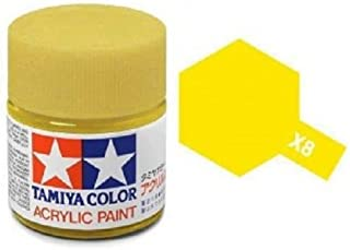 Tamiya Models X-8 Mini Acrylic Paint, Lemon Yellow
