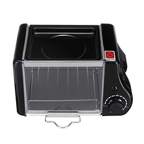DyNamic 1.5L Elektrische Mini Oven Toaster Brood Bakken Koekenpan Eieren Omelet Keuken