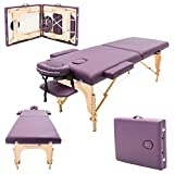 Massage Imperial® Purple Charbury 2-Section Portable Massage Table Bed Couch Spa