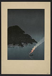 Japanese Print: Yoru no karasaki no matsu