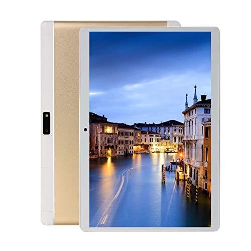 Tab8 Tablet 10 Pulgadas Android 4G LTE 5G WiFi, 4GB RAM+64GB ROM (TF 128GB), Octa-Core, Batería 5000mAh, Tableta con Cámara, 1280 * 800, Dual SIM/Face ID/GPS/OTG/Bluetooth,Oro
