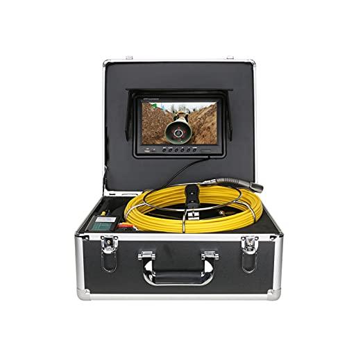 9 Inch Monitor DVR Serry Pipe Inspectie Videocamera met Auto Saldo Auto Nivellering 512 Hz Zender Pijp Locator 22mm IP68 HD 1000TVL Camera 12pcs LED-verlichting,50M