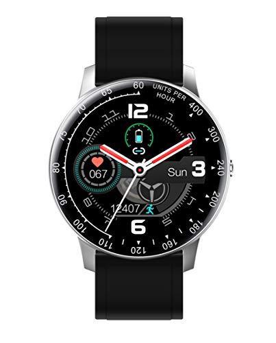 Reloj Smart de Radiant. Colección Times Square. Reloj Plateado con Correa de Silicona Negra y Brazalete de Acero Plateado. IP67. 44mm. Referencia RAS20402.