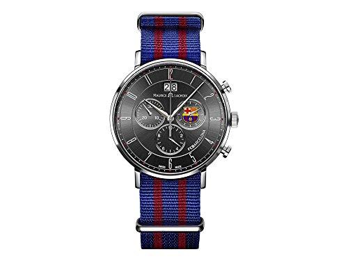 Maurice Lacroix Herren Chronograph Quarz Uhr mit Edelstahl Armband EL1088-SS002-320-1