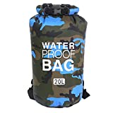 Naisicatar Waterproof Dry Bag Floating Dry Backpack Lightweight Dry Sack for Beach Boating Fishing Kayaking Swimming 20l Blue