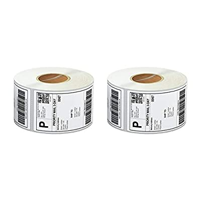 """Anylabel 4"""" X 6"""" Direct Thermal Labels 3'' Core Postage Address Shipping Label Compatible for Zebra Industrial Printer Perforated (2 Rolls, 2000 Labels)"""