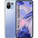 "Xiaomi 11 Lite 5G NE - Smartphone con Pantalla de 6,55"" DotDisplay AMOLED FHD+ de 90 Hz, 6+128GB, Qualcomm Snapdragon 778G, Triple cámara de 64MP+8MP+5MP, Bat 4250mAh, Azul Chicle (Versión ES/PT)"