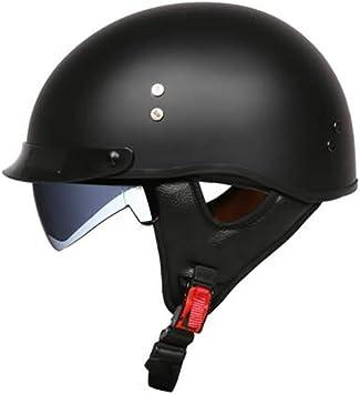 Gaozh Motorradhelm Mopedhelm Halbschalenhelm Frp Retro Jethelm Für Damen Und Herren Mit Visier Erwachsene Oldtimer Vintage Style Harley Helm Ece Zertifizierung Sport Freizeit