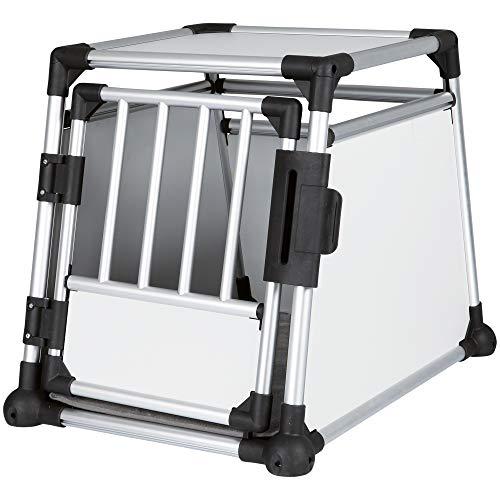 Trixie Transportkäfig Aluminium Transportbox fürs Auto Sehr stabil, leicht und sicher
