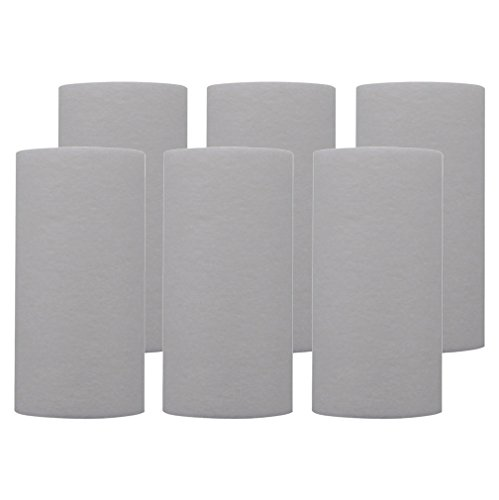 Tier1 Replacement for Pentek P5-478 5 Micron 5 x 2.5 Spun Wound Polypropylene Sediment Water Filter 6 Pack
