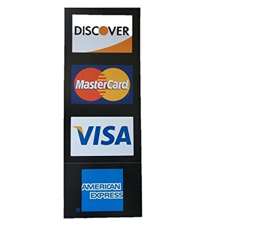 Visa/MC/Amex/Discover Credit Card Decals, 4 Piece
