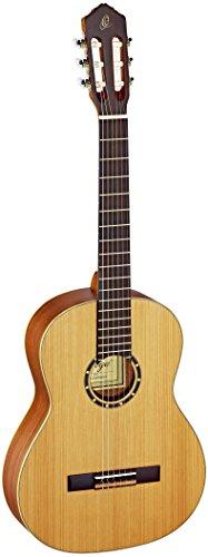 Ortega Guitars R131 Konzertgitarre in 4/4 Größe massive Decke natur im seidenmatten Finish mit hochwertigem Gigbag