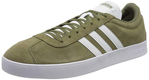 adidas Vl Court 2.0, Zapatillas de Skateboard para Hombre, Verde (Raw Khaki/Ftwr White/Ftwr White), 36 EU