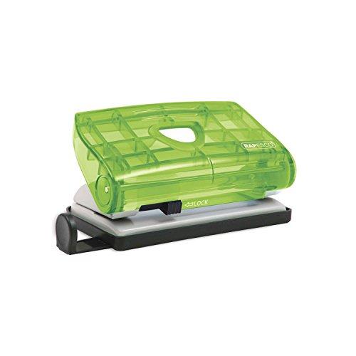 Rapesco 810-P - Perforadora de 2 agujeros, 12 hojas de capacidad, colores traslucidos, azul y verde