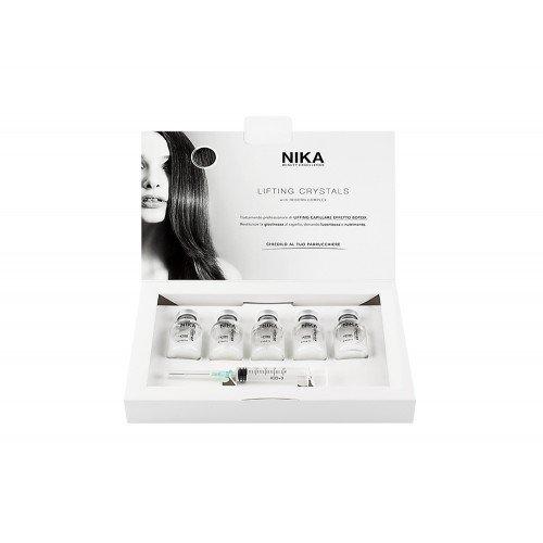 Fiale di trattamento professionale 5x20 ml effetto botox dona giovinezza lucentezza e nutrimento ai capelli Nika lifting crystals box 5x20ml with reborn complex