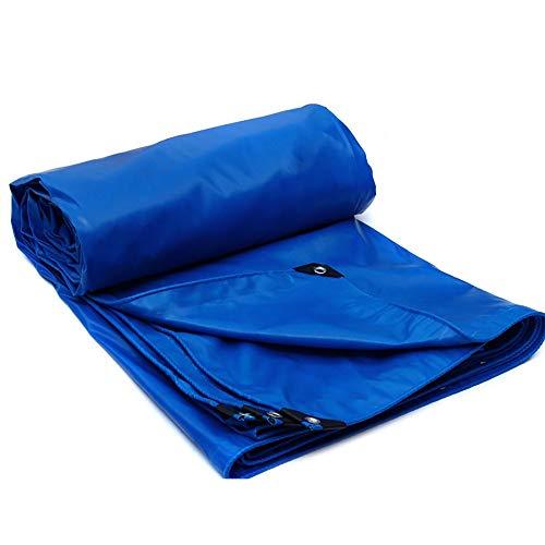 LXLIGHTS Bache Impermeable Auvent, De Plein Air Bâche Camion Linoléum Toile De Protection Imperméable/Neige/Soleil, Polyester Epaisseur 0.5MM 520g \ M2 (Couleur : Bleu, Taille : 400 * 300cm)