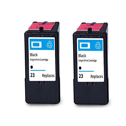 Reemplazo remanufacturados # 23# 24 Cartucho de tinta para Lexmark X3530 X3550 X4530 X4550 X5070 X5370 Z1420 Z1410 impresoras de inyección 2black