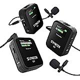 SYNCO G2(A2) 2.4Ghz Sistema de Micrófono Solapa Inalámbrico, Micro de Corbata Wireless Compatible para DSLR Cámara, Videocámaras, Móviles y Tabletas, Corbata-Microfono-Solapa-Inalambrico-Professional