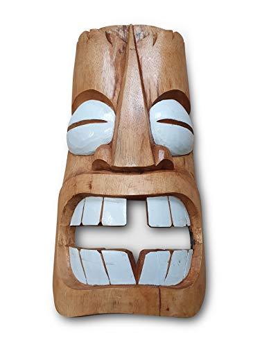 Máscara De Madera De Kinaree Tiki – Decoración Hawaiana – Máscara Del Mar Del Sur – 50 Cm – Cara Amable