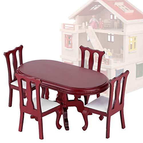 Muebles de Cocina de casa de muñecas, Mesa de casa de muñecas, Superficie Lisa sin Rebabas para la decoración del Dormitorio del hogar Regalo