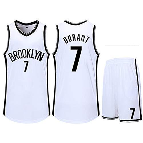 # 7 Kevin Durant basketbal Jersey heren zwart pak - Brooklyn Nets Athlete's Jersey mesh sneldrogend fan-sweatshirt voor kinderen / volwassenen of een verjaardagscadeau (XXXS-XXXXXL)