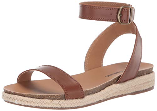 Price comparison product image Lucky Brand Women's GARSTON Espadrille Wedge Sandal,  Umber,  6 M US