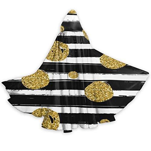 Amanda Walter Capa para Adultos para Halloweenn Gold Black White Unisex Tnica Larga Disfraz de Halloween Capa de Uniforme Capa